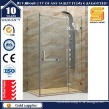 Bathroom Custom Frameless Fiberglass Glass Shower Enclosures