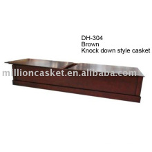 Knock down American wooden casket