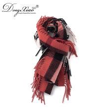 Sombrero al por mayor de las bufandas de Kashmir fijado en la bufanda pura a granel de la moda de la cachemira del 100% para los hombres