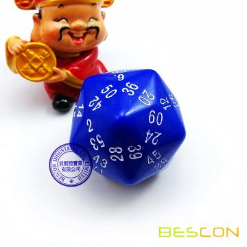 Bescon New Style Multi-sides Dados Polyhedral Dice 60-Dados Gaming Dice, D60 Dice, D60 Dice, 60 Sides Die, 60 Sided Cube Blue