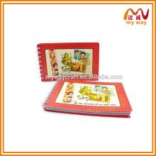 Fabricante de fábrica vermelho fofo capa de papel personalizado duplo fio caderno em espiral em branco