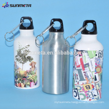 400ML Silver sublimation sports water bottle