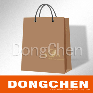 Custom Design Kraft Printing Paper Shopping Bag Package