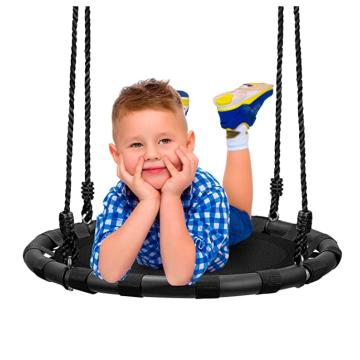 EASTOMMY Neues Design von Kids Round Mat Swing