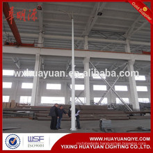 Hot dip galvanized round conical steel hinged and folding road lighting pole and outdoor lamp post