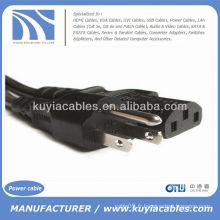 Câble de cordon d'alimentation secteur New Standard USA 3 Prong pour imprimantes Ordinateurs de bureau pour PC