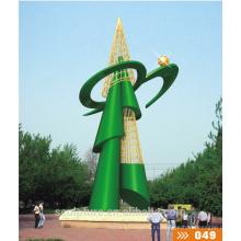 Escultura abstracta moderna de la escultura del acero inoxidable de la nueva escultura de la alta calidad 2016 / escultura al aire libre moderna