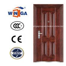 Exterior del panel exterior del diseño usando la puerta de acero de madera del metal (WS-108)
