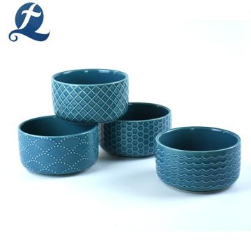 New Fashion Printing Ceramic Salad Bowl with Lid