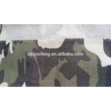 CVC imprimé armée uniforme tissu ripstop