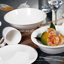 Hotel schlicht weiße Keramik geteilten Salatschüssel, Schale Keramik