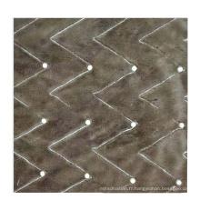 Tissu de flanelle tricoté en chaîne perlée 10MM