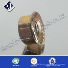 Tornillo Tuerca de brida hexagonal DIN6923