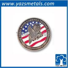 personalizar moneda conmemorativa, moneda de bandera personalizada con niquelado antiguo