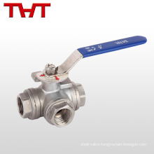 2 inch stainless steel 3 way tri clamp ball valve