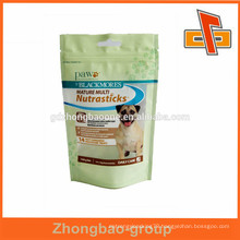Accept Custom Order standup dog food packaging bag with zipper in guangzhou