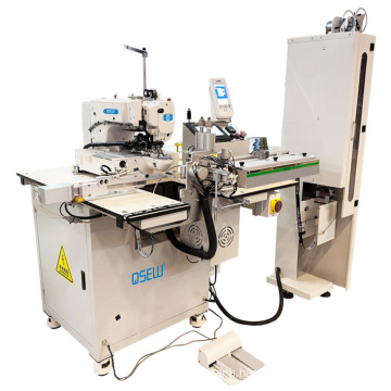 QS-436-ATM Electronic fully automatic auto cut auto feed direct drive elastic jointing industrial sewing machine