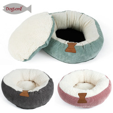 Mini Cat Bed Rodada Donut Dog Cat Bed Almofada Casa Cama Gato