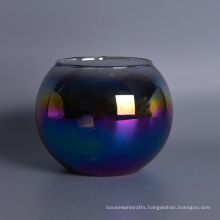 Round Shaped Candle Jar with Iridescent Decoration