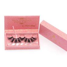 7D98 Hitomi custom lash box Private Label Siberian Mink Eyelashes paper eyelash packaging 3d real mink eyelash