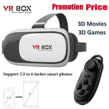 2016 Новая Vr Box гарнитура для виртуальной реальности, очки, VR Box 2.0 с пультом дистанционного управления, 3D VR Box