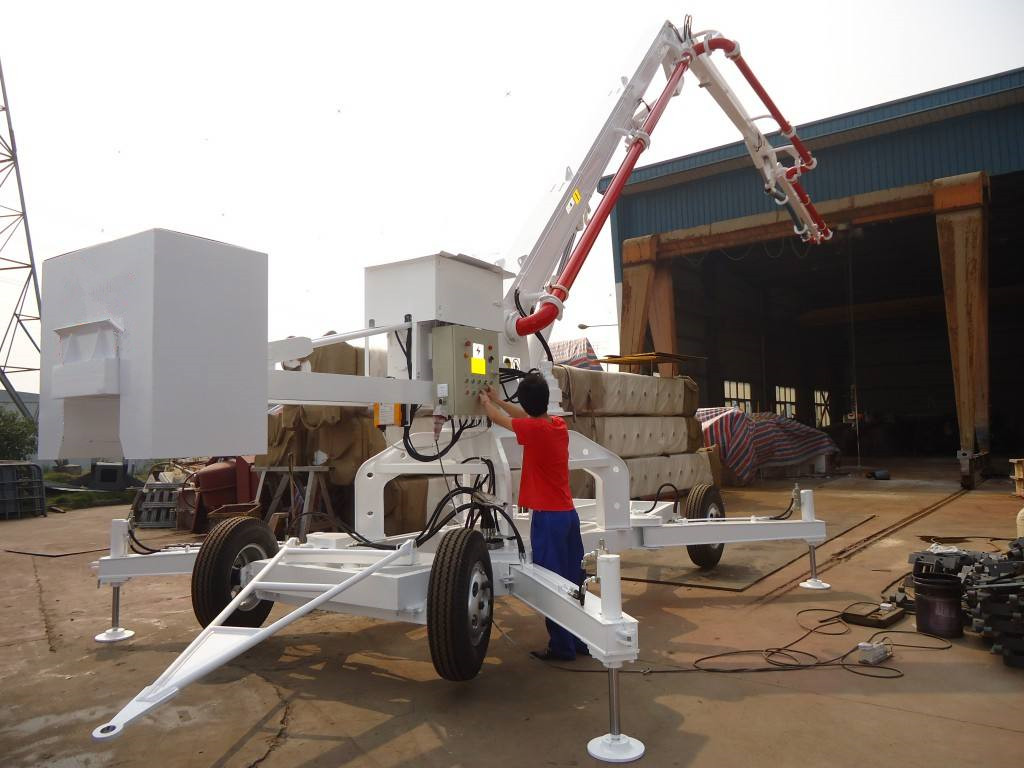 walking type concrete pump hydraulic boom placer