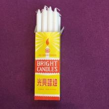 Bougies bâton blanc pur non parfumées à la main