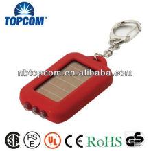 3LED solar keychain light