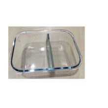 Caixa de armazenamento de vidro com duas camadas