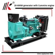 Generador portátil de alta calidad de menor potencia 25 kva 25kva generador de insonorización a prueba de viento diesel con motor Cums