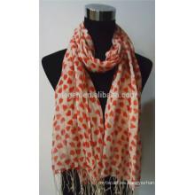 100% lino impreso bufanda