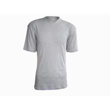 Camiseta masculina 100% algodão com decote em V 160G