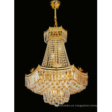 Luces colgantes de cristal de oro de estilo europeo luz para el hogar 6126