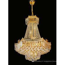 Lustre de lustres en cristal d'or de style européen pour la maison 6126