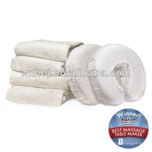 Cobertura de encosto de cabeça lavável de algodão branco com massagem
