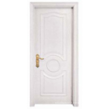 White Simple Design Solid Wooden Door