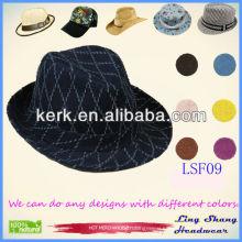 LSF09 2014 Plain Checked Designer Hat mens design hard hats