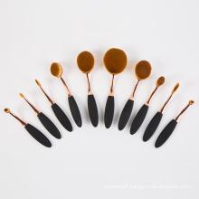 2016 New Fashion Toothbrush Oval Shape Makeup Brush Set