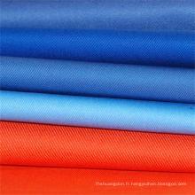 Diverses couleurs travail porter tissu sergé Polyester coton