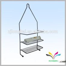Facory direkt benutzerdefinierte moderne bewegliche Bodenbelag Metall Bad Rack für Shampoo und Handtuch