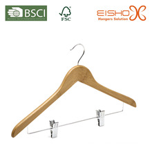 Bamboo Hanger with Clips (MB05-2)
