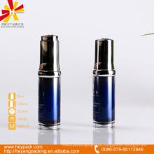 20ml botella azul de acrílico de cuentagotas de lujo con tapa de rosca PP
