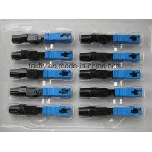 Connecteur rapide de Sc Upc / connecteur rapide optique de fibre