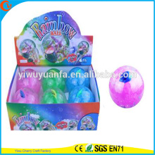 Venta caliente Kids'Gift LED de goma 100mm Flashing Fish Water Bouncy Ball