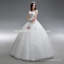 Vestido de baile ou vestido de casamento Princess Sweetheart Organza feito na China