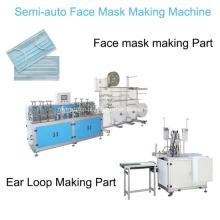 Máscara descartável semi-automática da máscara protetora lisa 3ply que faz a máquina com soldador do Ear-Loop