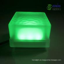 Ladrillo colorido del verde LED de 10 * 10m m 3W con la aprobación del CE RoHS