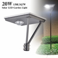 20W post top led luz solar 5000K