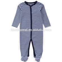 2017 Aliexpres venda quente meninos do bebê macacão de manga comprida com capuz azul bebê listrado onesie para escalada