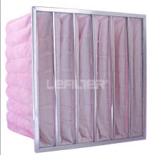 Filtre à poche pour l'industrie HVAC à cadre en acier galvanisé